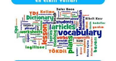 İngilizce kelime- zafer hoca